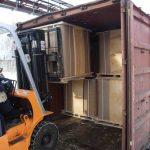Погрузка 2-го ряда СК в 20 ft ж/д контейнер